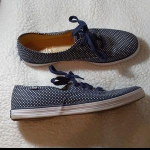 Keds Sneakers Polkadot Blue & White Size 9
